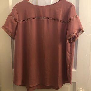 LOFT Dusty Rose polyester blouse
